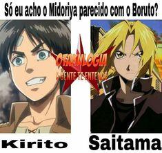 Vcs fumam o que? É claro que o Todoroki parece com o Naruto e a Misaki com a Asuna '_'