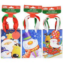 bulk frosted christmas loot bags with handles 6ct packs at loot bags bags and christmas