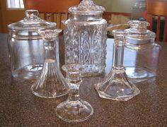 Como hacer frascos de vidrios con pedestal.