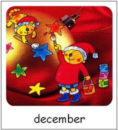 December | Pompom maanden Kids, Character, Pom Poms, Learning, Young Children, Boys, Children, Boy Babies, Lettering