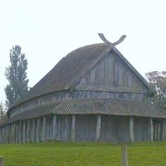 Viking wooden Longhouse