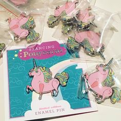 I am getting the ponycorn pins ready for their debut at Nucleus gallery's Pin Pal Palooza.  . . #unicorn #unicorns #unicornpin #enamelpin #enamelpins #pinlord #denimfashion #pintrading