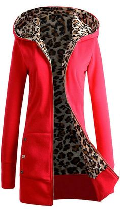 Tiger Mist Leopard Sweatshirt Coat...I have no need for this, but I love it...$32.99