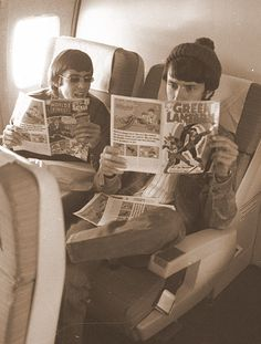 Davy Jones and Mike Nesmith. Mom and I are watching the Monkees again. =]