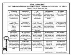 thinkers keys for kids - Google Search