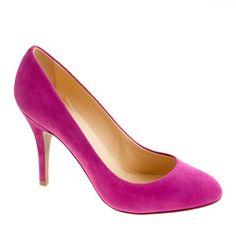 J.Crew pink Mona suede pumps