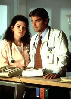 '90s TV Stars: Then & Now: George Clooney and Julianna Margulies: Then (Us weekly)