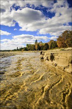 Harrisville State Park Lake Huron Sandy Beach - as the creeks meet the lake there is a river of change that flows like the seasons. #lake Huron, #Michigan,#Lake, #beach