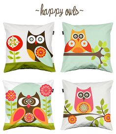 owl pillows designed by valentina ramos