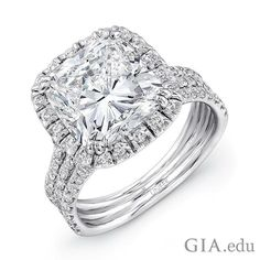 A celebrity favorite, the cushion cut #diamond offers endless options for those shopping for an #engagementring, since it fits both vintage and contemporary styles. Could this be a diamond you would wear as your engagement ring? Courtesy: @platinum_jewelry