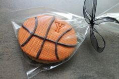 basketball cookie. I like the texture on the ball cookie.