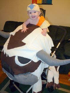 nobetterdeals 2013 kids halloween costume contest appa and aang from avatar the last airbender
