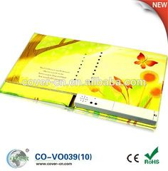 2015 the hot sale recordable voice book for children reading/studying
