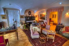Living room in Gatchina Palace. Gatchina, suburb of Saint Petersburg, Russia.