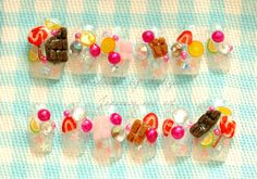 Decoden Japanese 3D nails kawaii fake sweets nail art by Aya1gou, $20.80