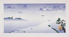 Roy Lichtenstein, Landscape with Boats,1996, Art Pop