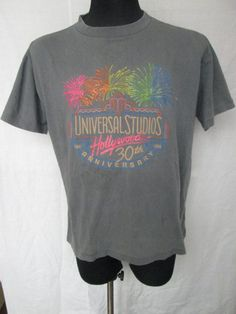 4ac1e9b46a64b Vintage Universal Studios Hollywood 30th Anniversary 1964-1994 Mens Graphic  T-Shirt Size XL Extra Large Used Condition Made in USA