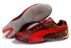 Mens Puma Ferrari In RedBrownGray Cheap To Buy