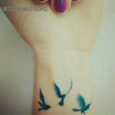 My new three little birds tattoo! Singing don't worry about a thing