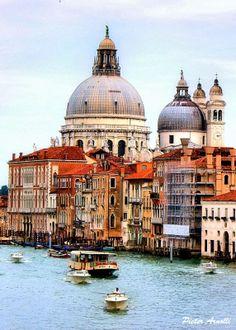 #Venice Grand Canal http://johnenpieter.blogspot.nl/p/postcards-from-italy_31.html