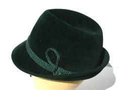 LEMBERT EST 1861 West German Gentlemens Green Velvet Hat Trilby Trilby Hats, Bowler Hat, Men's Hats, Fedora Hat, Green Silk, Green Velvet, Informal Attire, Homburg, Velvet Hat
