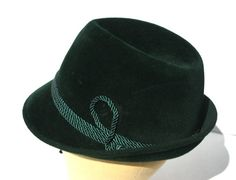 LEMBERT EST 1861 West German Gentlemens Green Velvet Hat Trilby