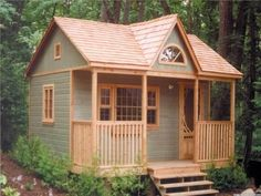 Cheap Log Cabin Kits Small Prefab Cabin Kits, plans for cabins and cottages Guest House Cottage, Br House, Tiny House Living, Garden Cottage, Guest Houses, Guest Cabin, Guest Cottage Plans, Tiny Guest House, Cozy Cabin