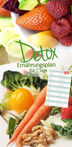 The detox diet plan lasts 7 days, a whole week. The Detox Plan is free of charge and is perfect for the detox diet. Detox nutrition plan - detox for 7 days free of charge! B(e) * Rebell ! sabineholznagel # Basische Ernährung The detox diet plan la The Plan, How To Plan, Smoothies, Smoothie Detox, Detox Plan, Easy Detox Cleanse, Diet Detox, Cleanse Diet, Detox Kur