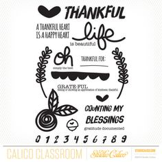 gratitude | documented at @studio_calico - class stamp set