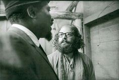 Thelonius Monk & Allen Ginsberg, Monterey, CA (1963) Photo by Jim Marshal