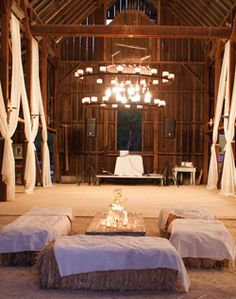 Rustic barn dance floor