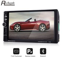 2Din 7inch Touchscreen Car Video Player with Microphone Steering-wheel Control and Rearview Camera