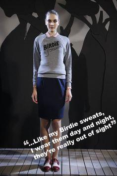 Rachel Antonoff 'Birdie Forever' Sweatshirt
