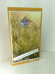 Fairy celebration meets sliding star framelits to create this adorable card from My Paper Oasis.