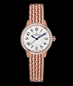 Jeager Le Coultre Rendez-Vous 27.5mm Auto 18K RG Available at Cellini Jewelers