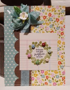 Carta Bella Spring Market stamps and American Crafts Everyday papers
