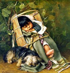 """""""Day is done. Gone the sun. From the lake From the hills From the sky. Safely rest, all is well, God is nigh."""" ~Author Unknown  Painting: Grace Carpenter Hudson #children"""