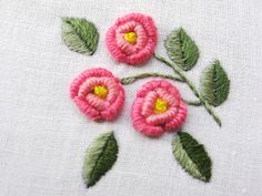 rosas rococo...para un bordado delicado