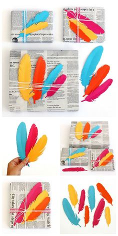 Printable feather de