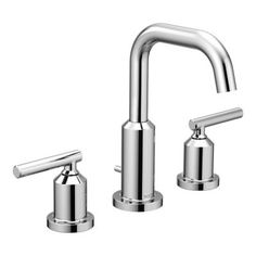 Gibson Chrome two-handle high arc bathroom faucet  -- T6142 -- Moen