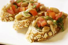 White Bean Bruschetta on Whole Grain Baguette | Andrea Beaman • Thyroid Expert • Holistic Health & Organic Diet Expert
