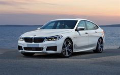 Download wallpapers BMW 6 GT, 2018, Gran Turismo, 4k, new white 6 Series, German cars BMW