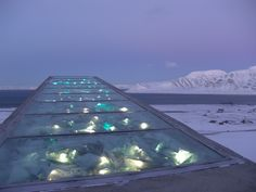 The Svalbard Global Seed Vault, which is established in the permafrost in the mountains of Svalbard, is designed to store duplicates of seeds from seed collections around the globe. Many of these collections are in developing countries. If seeds are lost, e.g. as a result of natural disasters, war or simply a lack of resources, the seed collections may be reestablished using seeds from Svalbard.