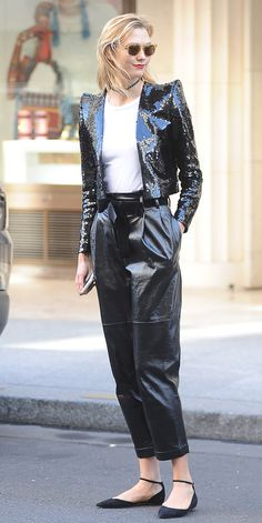 Karlie Kloss is channeling serious Michael Jackson vibes in Paris. The supermodel stepped out in Paris wearing an edgy combo that would make the King of Pop proud.