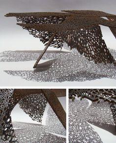 Perforated Metal Sheet Roof_Saatchi artist Hooman Mehdizadeh Jafari 2013