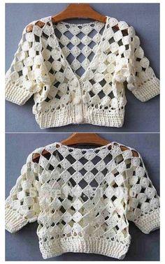 Débardeurs Au Crochet, Bonnet Crochet, Gilet Crochet, Mode Crochet, Crochet Jacket, Crochet Woman, Thread Crochet, Crochet Cardigan, Crochet Sweater Design