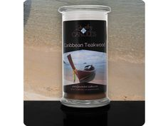 Jewelry In Candles~Caribbean Teakwood Candle(2 Gifts In 1)