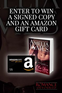 Win a $25 Amazon Gift Card and Signed Paperback from Bestselling http://www.romancedevoured.com/giveaways/win-a-25-amazon-gift-card-amelia-james/?lucky=83360Author Amelia James