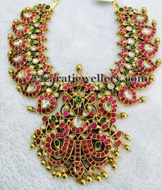 South Indian Jewellery Designs: Ethnic Mango Mala Gallery