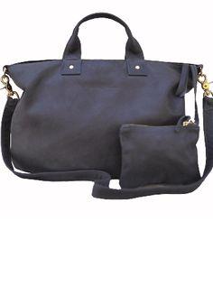 Clare Vivier Messenger leather bag - Grey
